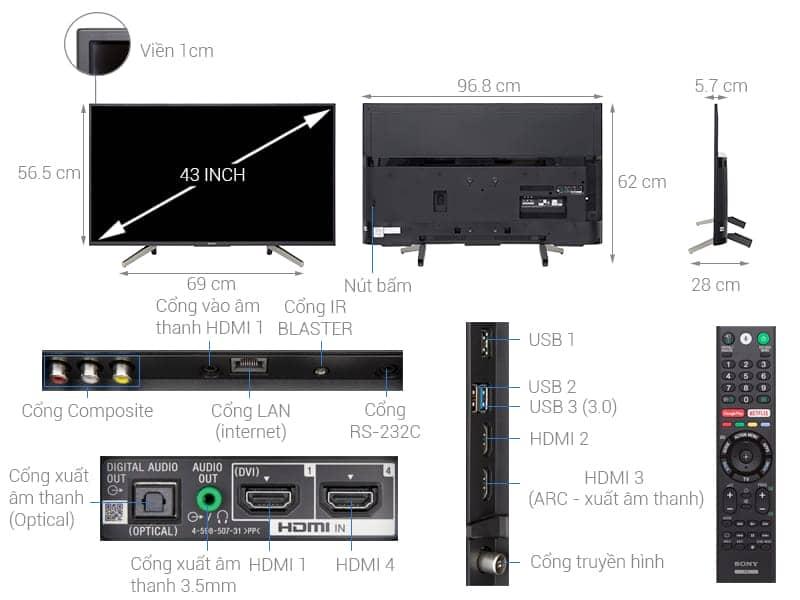 ảnh kỹ thuật tivi 43X7500F