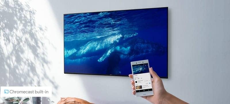 Chiếu màn hình từ điện thoại lên tivi KD-43X8500F