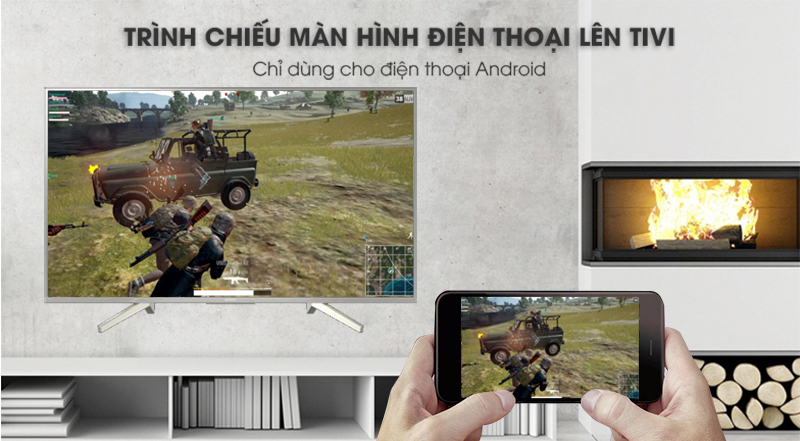 Chiếu màn hình điện thoại lên tivi sony KD-49X8500F