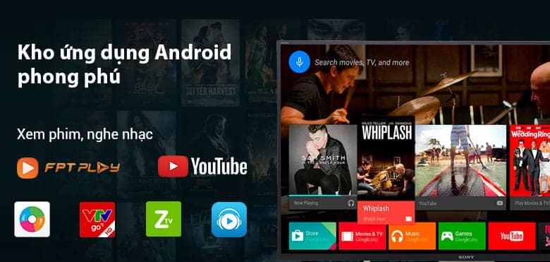 Hệ điều hành android trên tivi KD-55X8500F