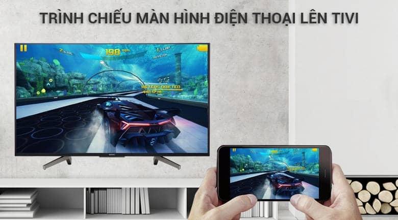 KD-65X8500F chiếu màn hình điện thoại