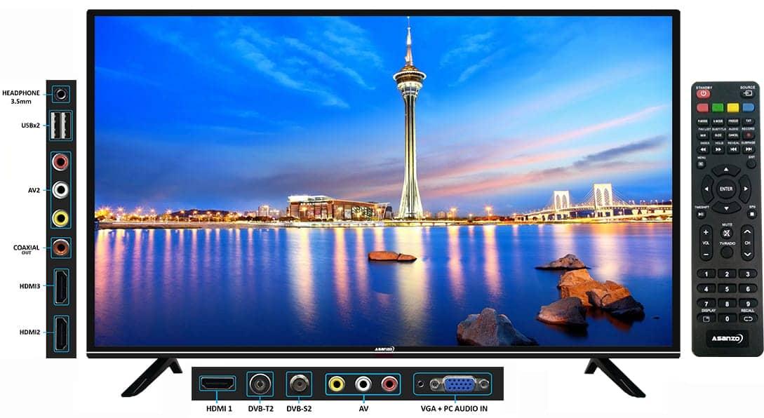 Tivi Asanzo LED 32T880 32inch Thiết kế đẹp