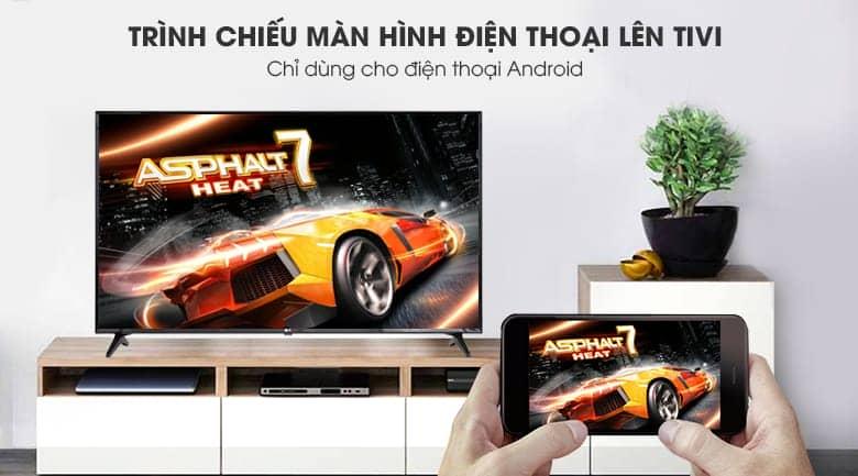 Tivi LG 55UK6100 PTA khả năng trình chiếu màn hình điện thoại.