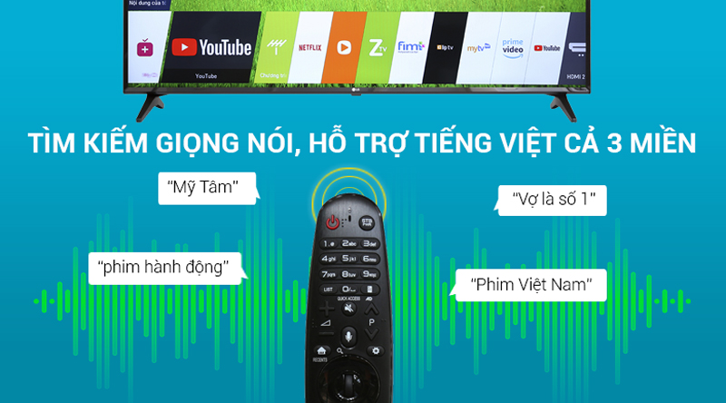 Tivi LG 55UK6100 PTA Tìm kiếm giọng nói
