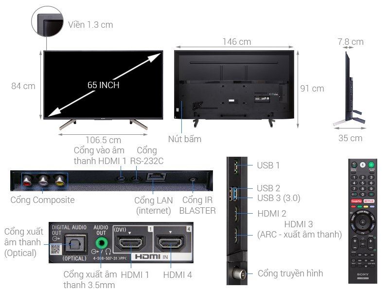 ảnh kỹ thuật KD-65X7500F