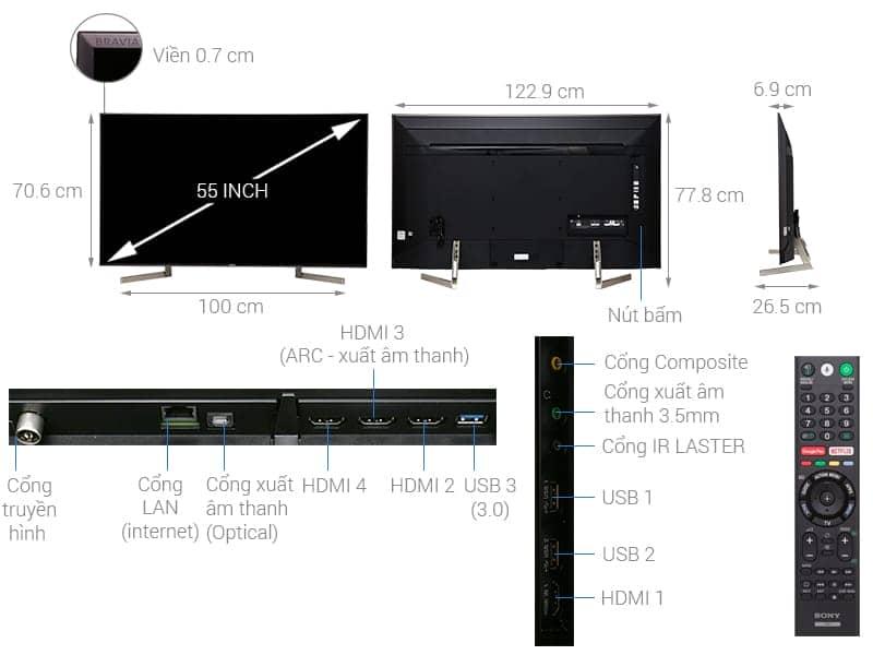 ảnh kỹ thuật KD-55X9000F