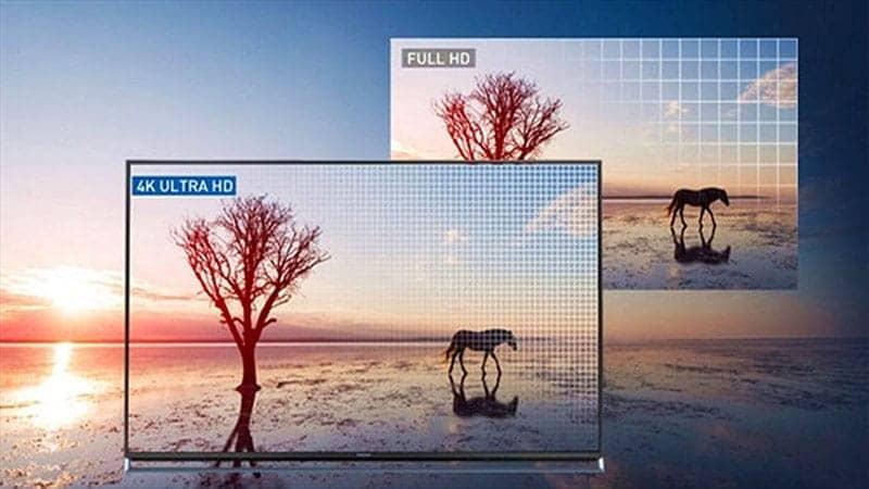 Độ phân giải 4K trên Sony KD-55X9000F