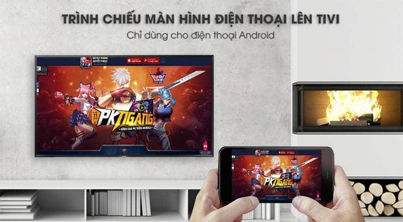 Smart Tivi Samsung Full HD 43 inch UA43N5500 trình chiếu điện thoại