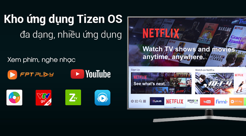 Smart Tivi Samsung 4K 50 inch UA50NU7400 Tizen OS