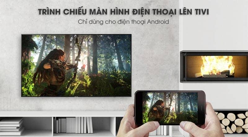 Smart Tivi Samsung 4K 65 inch UA65NU7100  trình chiều màn hình lên  tivi