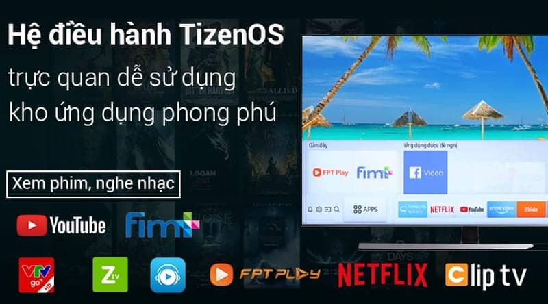 Smart Tivi Samsung 4K 65 inch UA65NU8000 Hệ điều hành Tizen OS