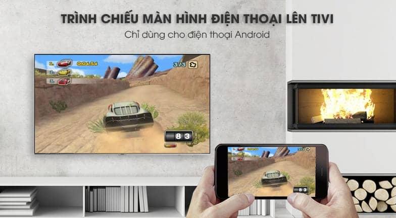 Smart Tivi 4K Samsung 82 inch UA82NU8000 trình chiếu màn hình điện thoại