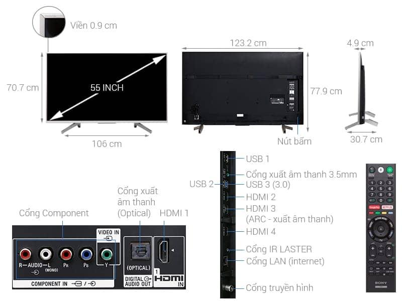 Ảnh kỹ thuật KD-55X8500F/S
