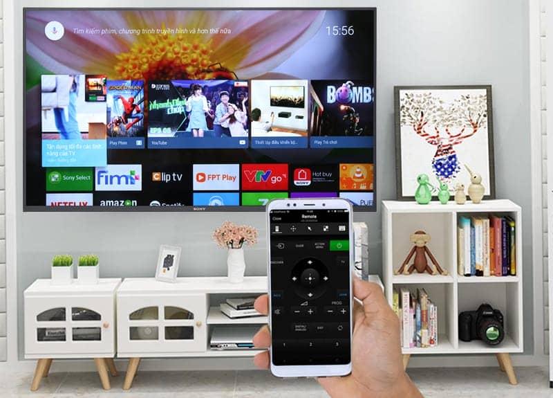 Điều khiển Android Tivi Sony 4K 65 inch KD-65X7500F bằng điện thoại
