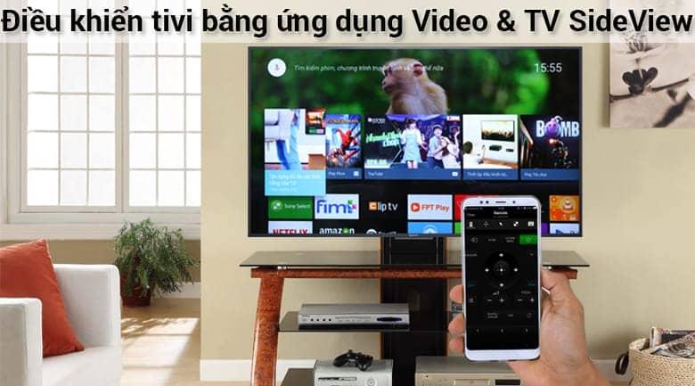Điều khiển tivi bằng ứng dụng trên đt với Sony 75X8500F