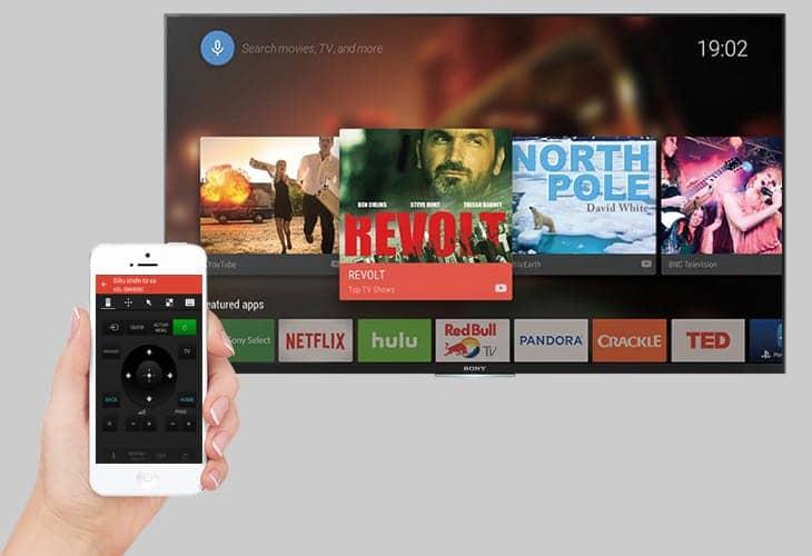 Android Tivi Sony 4K 60 inch KD-60X8300F  Điều khiển tivi bằng điện thoại