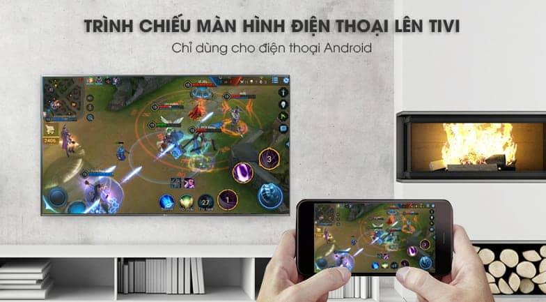 Chiếu màn hình điện thoại lên tivi LG 43UK6540PTD