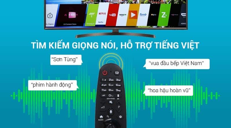 49UK6340PTF có tính năng tìm kiếm giọng nói