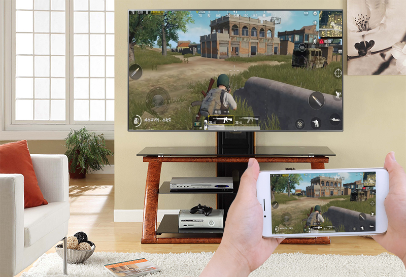 chiếu màn hình điện thoại lên LG 50UK6540PTD