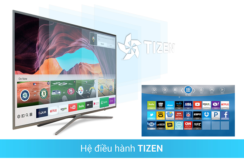 Smart Tivi 4K Samsung 49 inch UA49NU7100 Hệ điều hành tizen