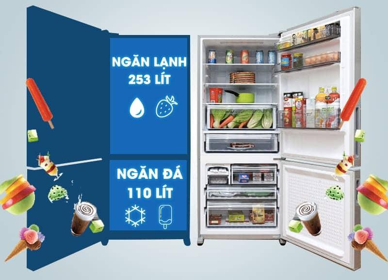Tủ lạnh Panasonic 363 lít NR-BX418VSVN dung tích lớn