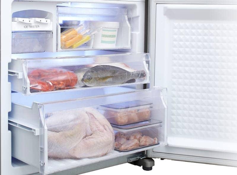 Tủ lạnh Panasonic 363 lít NR-BX418VSVN ba ngăn đông riêng biệt