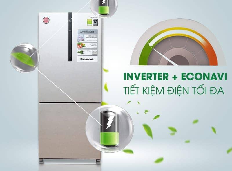 Tủ lạnh Panasonic 363 lít NR-BX418VSVN inventer