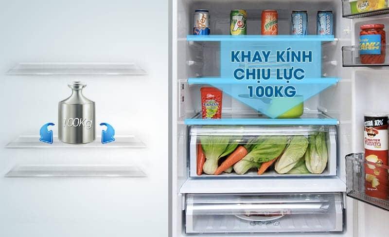Tủ lạnh Panasonic 363 lít NR-BX418VSVN Khay kính chịu lực