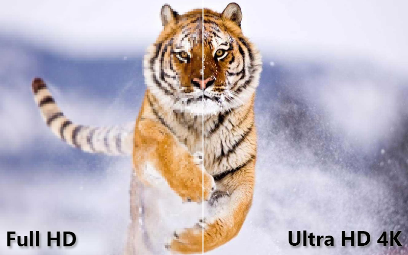 Smart Tivi 4K Samsung 55 UA55NU7100 Độ phân giải Ultra HD 4K