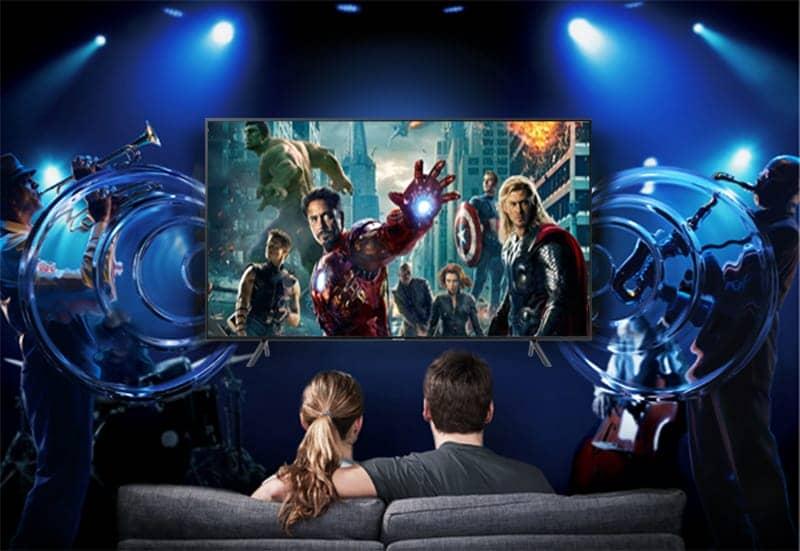 Smart Tivi 4K Samsung 55 UA55NU7100 Âm thanh Dolby digital plus