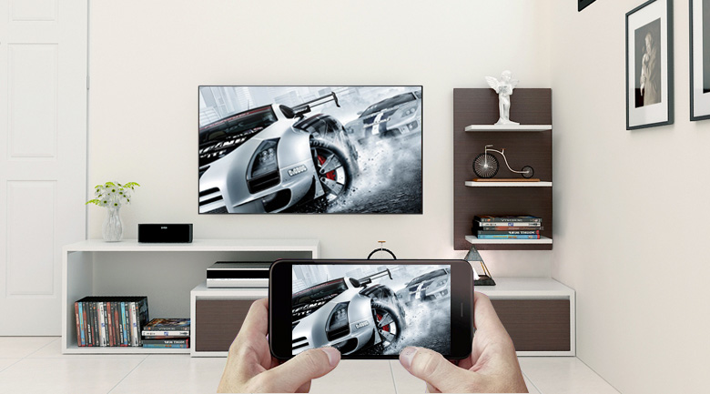 Android Tivi Sony 4K 60 inch KD-60X8300F  trình chiếu điện thoại lên tivi