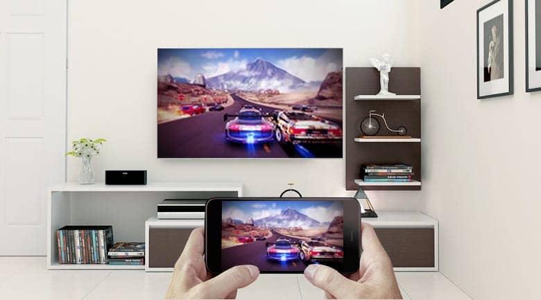 Android Tivi Sony 4K 43 inch KD-43X8500F/S Trình chiếu màn hình tivi lên Điện Thoại