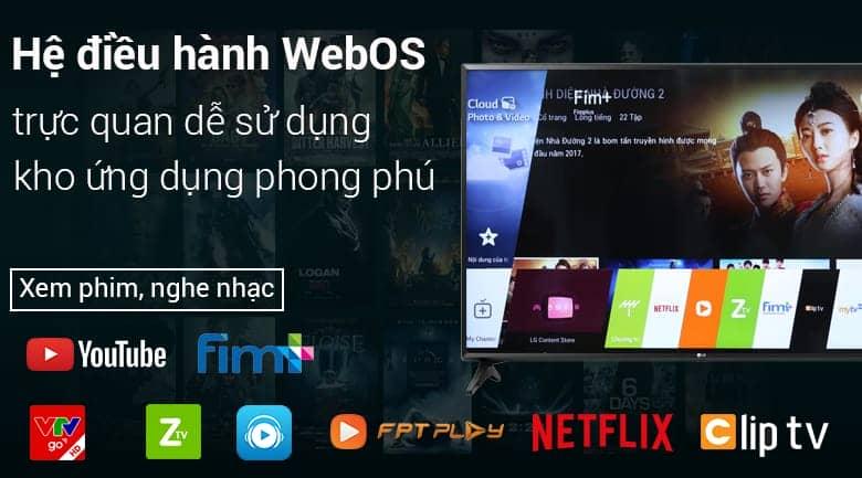 Hệ điều hành web os trên Tivi LG 49LK5700PTA