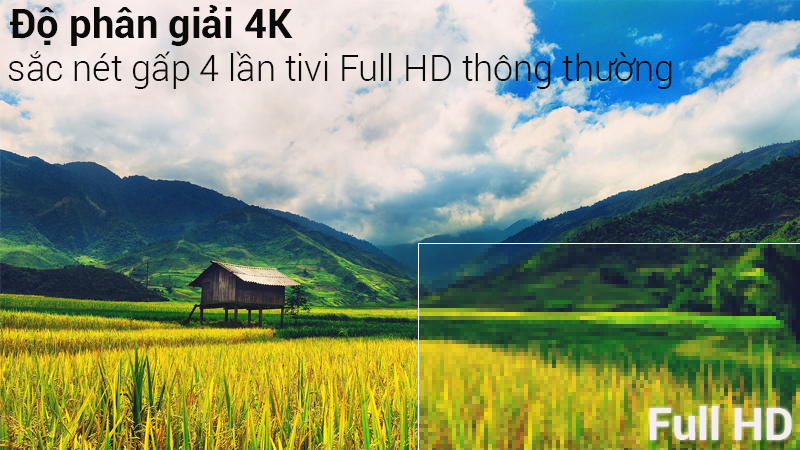 Smart Tivi 4K Samsung 43 inch UA43NU7400 Độ phân giải 4K