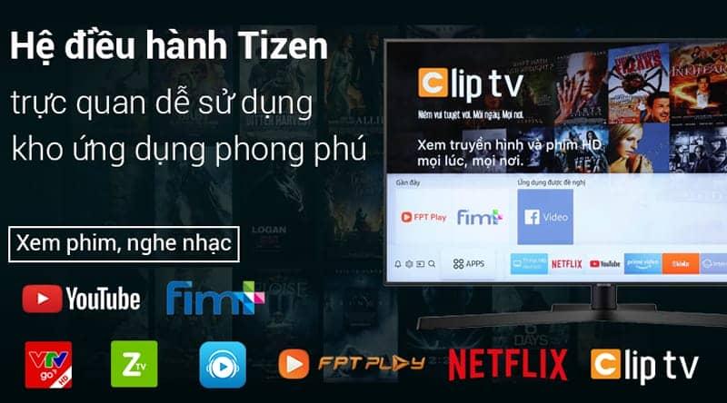 Smart Tivi 4K Samsung 43 inch UA43NU7400 Hệ điều hành tizen