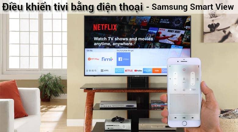 Smart Tivi 4K Samsung 43 inch UA43NU7400 Điều khiển tivi bằng điện thoại