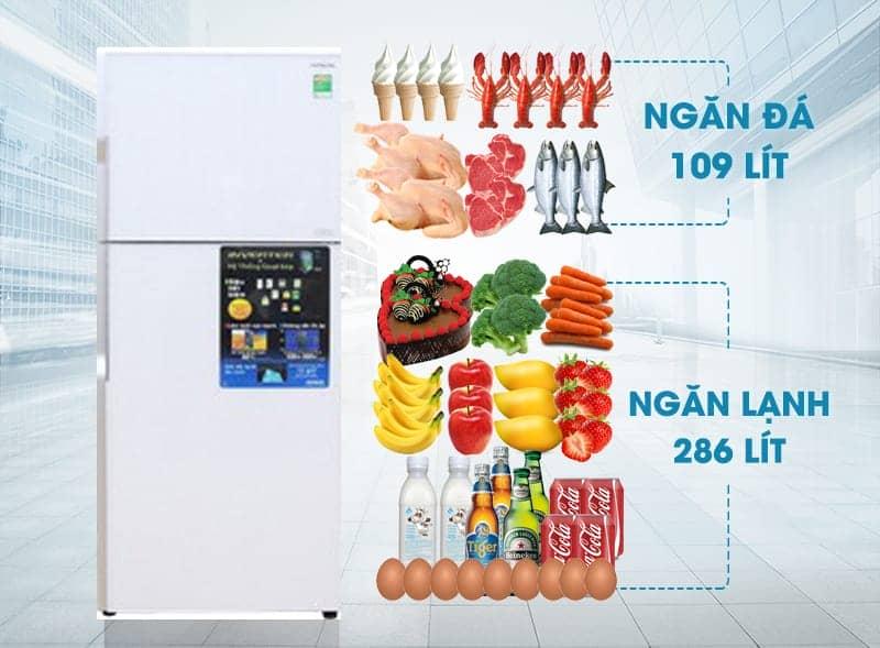 Tủ lạnh R-VG470PGV3 (GPW) với dung tích lớn