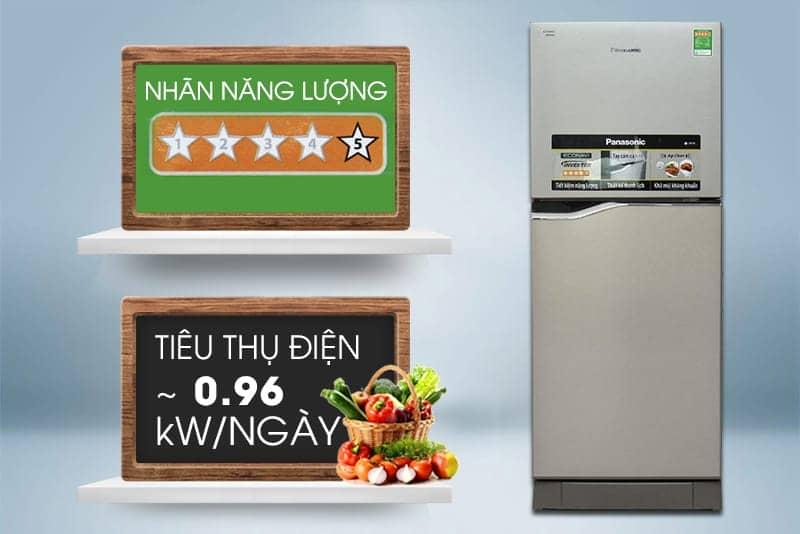 Tủ lạnh Panasonic 152 lít NR-BA178PSVN Nhãn năng lượng 5 sao