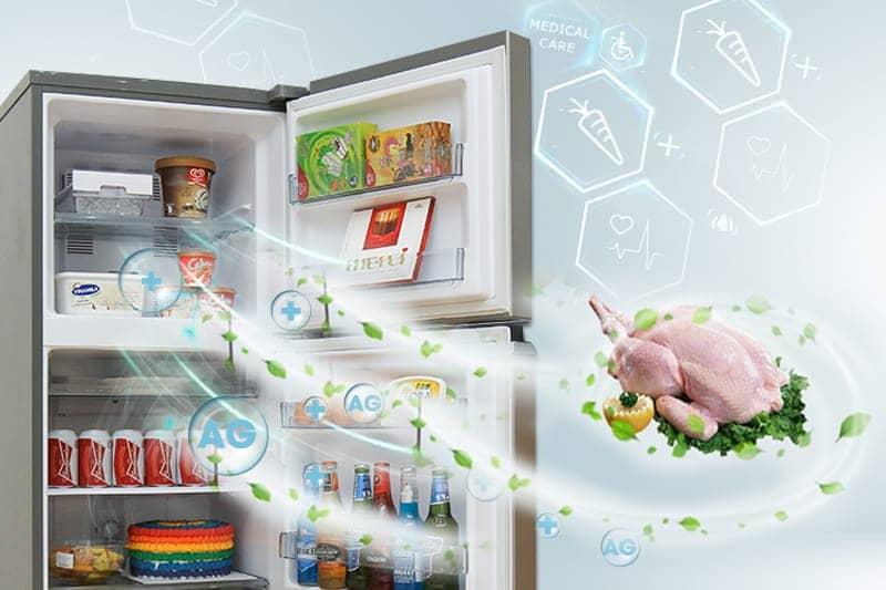 Tủ lạnh Panasonic 152 lít NR-BA178PSVN Công nghệ kháng khuẩn, khử mùi