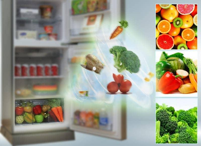 Tủ lạnh Panasonic 152 lít NR-BA178PSVN Ngăn rau quả giữ ẩm.
