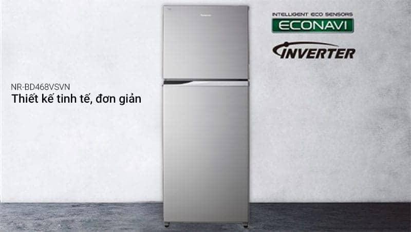 Tủ lạnh Panasonic 405 lít NR-BD468VSVN thiết kế đơn giản
