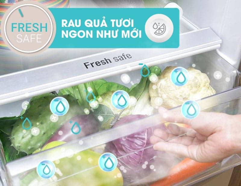 Tủ lạnh Panasonic 405 lít NR-BD468VSVN Ngăn rau quả