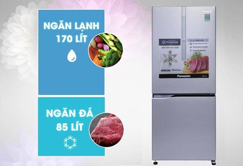 Tủ lạnh Panasonic 255 lít NR-BV289XSVN thiết kế thân thiện