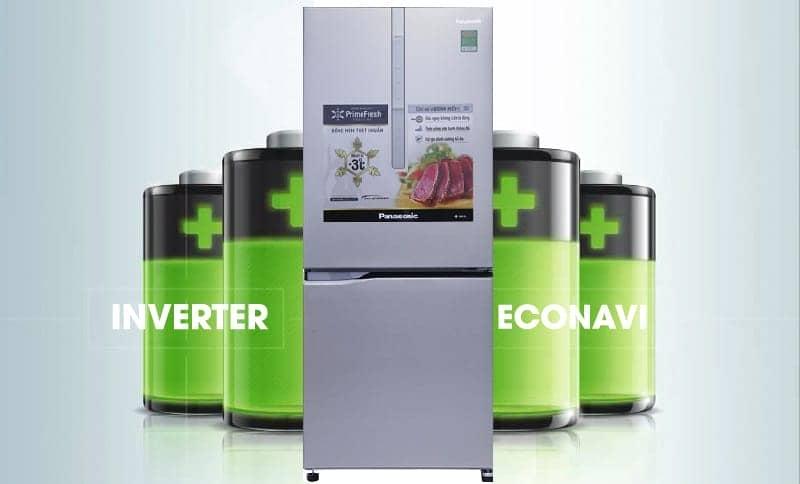 Tủ lạnh Panasonic 255 lít NR-BV289XSVN Inventer tiết kiệm điện