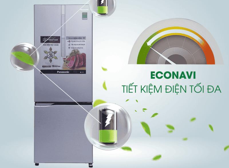 Tủ lạnh Panasonic 290 lít NR-BV329XSVN tiết kiệm điện