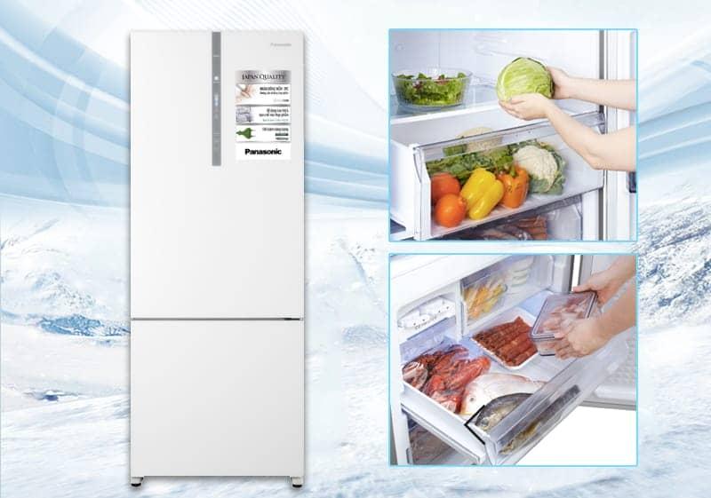 Tủ lạnh Panasonic 405 lít NR-BX468GWVN thiết kế đẹp mắt