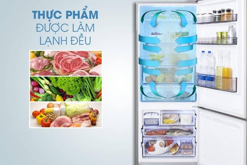 Tủ lạnh Panasonic 405 lít NR-BX468GWVN Công nghệ làm lạnh Panorama