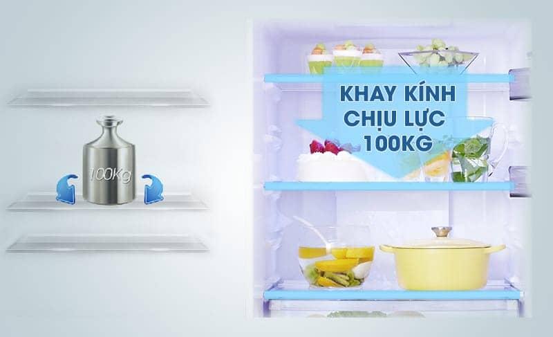 Tủ lạnh Panasonic 405 lít NR-BX468GWVN Khay kính chịu lực