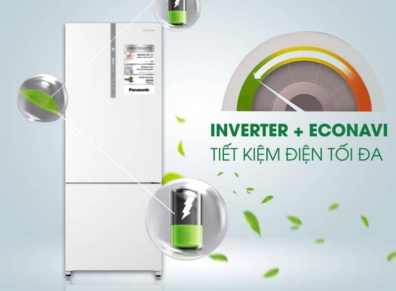 Tủ lạnh Panasonic 405 lít NR-BX468GWVN Công nghệ Inventer tiết kiệm điện