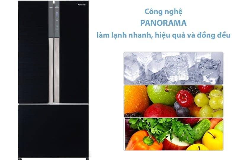 Tủ lạnh Panasonic inverter 491 lít NR-CY558GKVN công nghệ làm lạnh Panorama